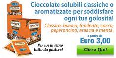 Cioccolate solubili classiche o aromatizzate per soddisfare ogni tua golosità!