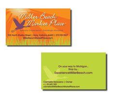 Miller Beach Market Place - Business card