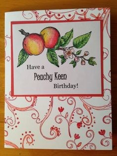 CAS374 Peachy Keen Birthday by Jennifrann - Cards and Paper Crafts at Splitcoaststampers