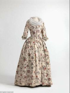 Robe à l'Anglaise, 1770-1780, Mode Museum.
