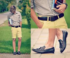 online store 7be3c 69ba4 Primark Dark Brown Loafers, Primark Brown Belt, New Look Brown Watch, New  Look Yellow Shorts, Primark Grey Shirt- Proof for style on a budget