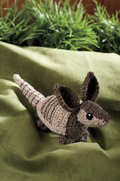 if only i could crochet... i'd make one for the armadillo fan in my life.