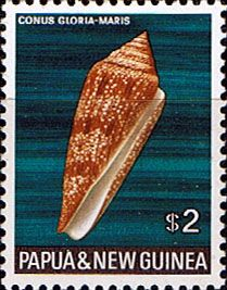 postage stamps from oceany | Postage Stamp Stamps Papua New Guinea 1968 Sea Shells SG 151 Fine Mint ..