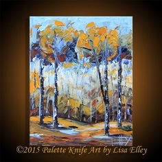 Tree Painting Fall Decor Abstract Art Tree of by PaletteKnifeArt
