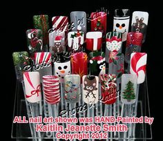 Custom Christmas Artificial Nail Art by KaitlinsKreationsart, $22.00