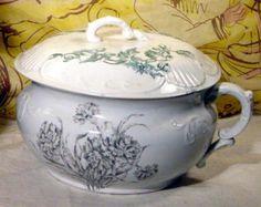 Wheeling Pottery Co Circa 1879 1923 Chamber Pot Chamber