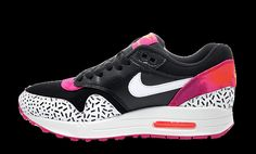 Great choice for the Ladies; Nike Air Max 1 Print Fireberry. http://thesolesupplier.co.uk/products/nike-air-max-1-womens-print-fireberry/