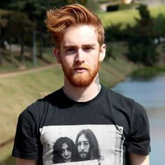 Bearded Ginger Haired Man.