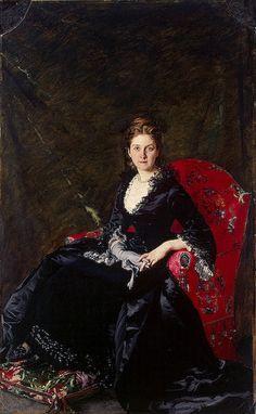 Retrato de Nadezhda Polovtsov por Carolus-Duran, 1876 Rússia