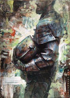 knight Medieval Knight, Dark Fantasy, Knights, Mysterious, Fairytale, Painting, Art, Fairy Tail, Fairytail