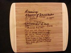 Custom cutting board for Jamie