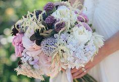 Textured Purple Hydrangea Bouquet   Swoon by Katie  blog.theknot.com