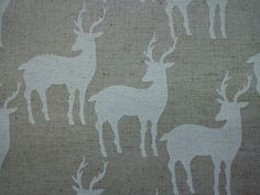 Hey, I found this really awesome Etsy listing at http://www.etsy.com/listing/155706500/white-deer-fat-quarter-cotton-linen
