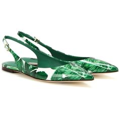 Dolce & Gabbana Printed Patent Leather Slingback Ballerinas (2.975 BRL) ❤ liked on Polyvore featuring shoes, flats, green, green flats, patent leather ballerina flats, patent leather shoes, green ballet shoes and slingback flats