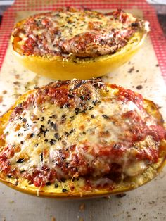 baked spaghetti squash boats with grilled chicken