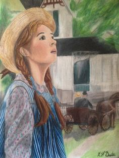 My Anne of Green Gables Color Pencil Drawing #Drawings #Prismacolor #ColorPencil #AnneofGreenGables #Art