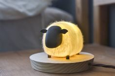 The Sheep night light wood and felt Wooden Lamp, Room Accessories, Home Decor Furniture, Lamp Light, Night Light, Decoration, Handmade, Crafts, Inspiration