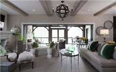Sunny Transitional Living Room by Jamie Beckwith