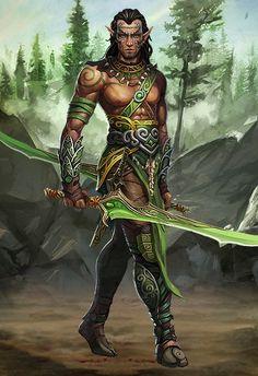 m Wood Elf Ranger Belt Sword forest hills rough wilderness