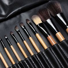 15 Pcs High Quality Make Up Brushes with Leather Pouch //Price: $22.78 & FREE Shipping //     #hashtag2