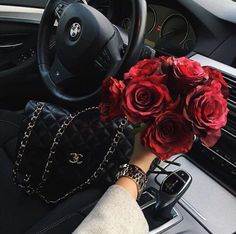BMW, Chanel purse, and a bouquet of red roses Everything that a girl needs. BMW, Chanel purse, and a bouquet of red roses Just Girly Bmw Girl, Leder Outfits, Expensive Taste, Chanel Purse, Luxe Life, Rich Girl, Belle Photo, Luxury Lifestyle, Wealthy Lifestyle