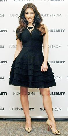Kim Kardashian 2011 Looks - bow front Christian Louboutin heels