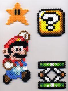 Mario, etc. in Perler Beads by BlueKecleon15