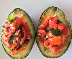 Cherry Tomato Stuffed Avocados  http://stalkerville.net/ #paleo