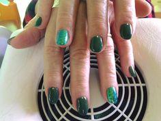#nails #madebyme #green #effettosirena