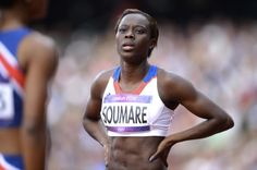 Miriam Sougare, a French 200m. runner at the 2012 London Olympics