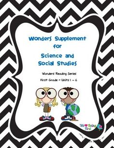 This cute and colorful 57 page science and social studies supplement will provide activities to teach your first grade curriculum as well as be follow along  with the Wonders Reading Series. We have provided one to two activities for each week of the school year, each covering skills taught in the first grade science and social studies curriculum in most schools.