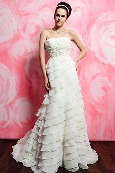 Eden Bridals 2402 Size 8 Ivory