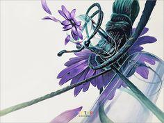 상명대 기초디자인 꽃 유리잔 줄