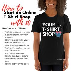 Tshirt Business, Business Help, Craft Business, Home Based Business, Online Business, Business Ideas, Design Your T Shirt, Make Money Online, How To Make Money
