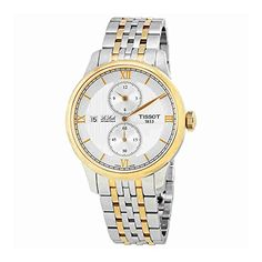 Tissot Le Locle Automatique Regulateur Silver Dial Two-tone Gold Bracelet Mens Watch T006.428.22.038.02 *** Want to know more, click on the image.