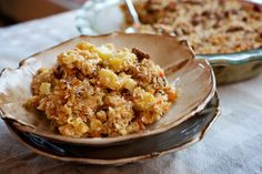 Morning Glory Baked Oatmeal by Ellie Krieger - A make-ahead baked oatmeal that tastes like carrot cake.