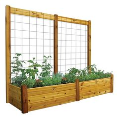 Gronomics Safe Finish Deep Double Raised Garden Bed & Trellis Kit, Multicolor