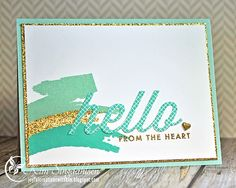 MINI BLOOMS PAPERTREY INK | Stamps: Papertrey Ink Wonderful Words mini: Hello Paper: Papertrey Ink ...