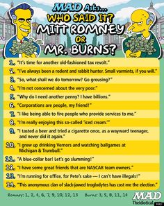 Who said it - Mitt Romney or Mr. Burns