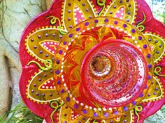 Glass Plate Flowers For Your Spring and Summer by pollysyardart, $45.00
