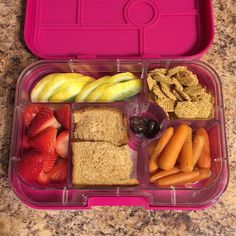 Today's #yumbox be out to you from a nervous mom who just sent her kiddo to the first full day of school.  kind of crazy!! #kidslunches should be colorful and nutritious. #moms don't be overwhelmed with packing the coolest #bentolunch The #lunchbox is not the time to try new foods. Save that for #dinner or a weekend. Guidelines I give #parents when packing 1. #fruit 2. #vegetable 3. Grain 4. #protein 5. Do not pack things that are high in #sugar #junk or have #artificialcoloring (red blue…