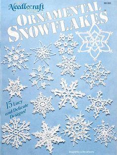 Best 12 Ornamental Snowflakes, The Needlecraft Shop Crochet Pattern Booklet 901302 HTF Crochet Snowflake Pattern, Crochet Stars, Crochet Snowflakes, Thread Crochet, Crochet Motif, Crochet Stitches, Crochet Patterns, Free Crochet, Crochet Angels