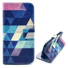 Colorful triangles bookcover hoesje voor iPhone 6