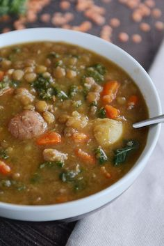 Smoky Lentil and Potato Soup {Pressure Cooker or Stovetop} | Mel's Kitchen Cafe