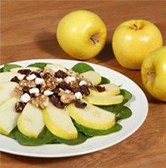 Spinach Apple Salad, Opal Apples, Apple Sale, Walnut Salad, Dried Cherries, Veggie Tray, Goat Cheese, Salads, Veggies