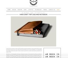 If you're the sort that likes to travel in style but always have useful accessories on hand then Hard Graft are a brand that should be well and truly on your radar and their latest offering, this Trip Case and Notebook, is the ideal offering for any dapper commuter who wants to make sure they're never far from a creative outlet and their possessions are housed in style.