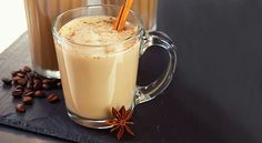 Pumpkin Spice Latte 2 Tbsp. canned pumpkin puree ½ tsp. pumpkin pie spice (or ¼ tsp. cinnamon and 1/8 tsp. each ground nutmeg and ground ginger) Pinch of salt 1 tsp. vanilla extract 1/2 cup milk of choice (I use homemade cashew milk) 1 cup hot, strongly brewed coffee 1 to 2 tsp. raw honey (or more to taste, if desired) 1 Tbsp. unsalted grass-fed butter (such as Kerrygold) or coconut oil, optional