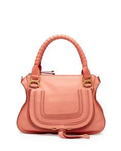 Marcie Medium Shoulder Bag, Coral by Chloe at Neiman Marcus.