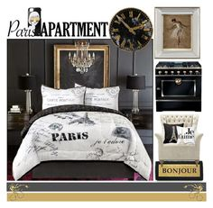 """""""Paris Apartment"""" by yours-styling-best-friend ❤ liked on Polyvore featuring interior, interiors, interior design, home, home decor, interior decorating, Kiss That Frog, John-Richard, Williams-Sonoma and french"""