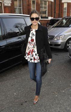"lovelyoutfitideas: ""Anya Hindmarch Fall London Show | 2013 Olivia Palermo Felder Felder coat · Tibi top """